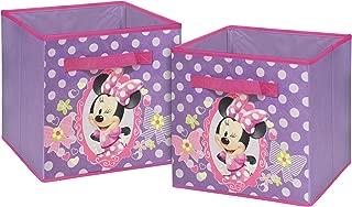 Disney  Minnie Mouse Storage Cubes, Set of 2, 10-Inch