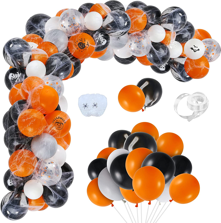 Auihiay 120 Pieces Halloween Balloon Arch Garland Set Include Or