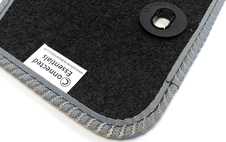 Prestige Bootmat 2011-Onwards Black with Grey Trim Connected Essentials CEB750 Car Mat Set for Peut 508