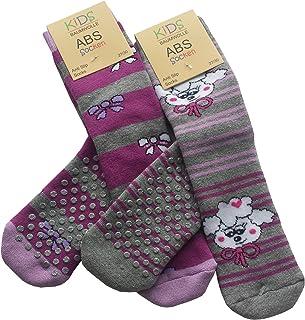Pack de 4, Calcetines antideslizante para niñas
