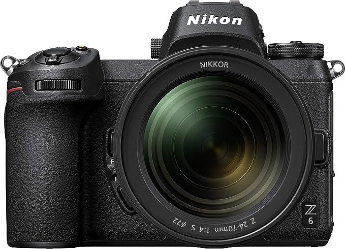 - Nikon Z6 FX Format Mirrorless Camera with Nikkor Z 24-70mm f/4 S Lens (Black) None, megapixels - Black