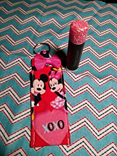 Disney Mickey and Minnie Mouse Chapstick holder keychains, disneybound, valentines day love keychain, wedding favors, bridal shower, party favors stocking stuffers