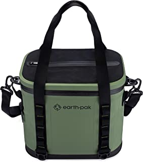 Heavy Duty Waterproof 20-Can Soft Cooler Bag for Camping, Sports, Fishing, Kayaking, Beach Trips - Mesh Tote Insert Included
