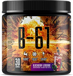 B-61 Pre Workout Powder - Gym Energy - Muscle Pumps & Extreme Focus - Weight Loss - Energy Drink For Men & Women, with Bet...