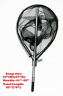 KUFA SPORTS FC7052 Retractable Aluminum Landing Net with Rubberized Mesh, 20 x 27/41-65