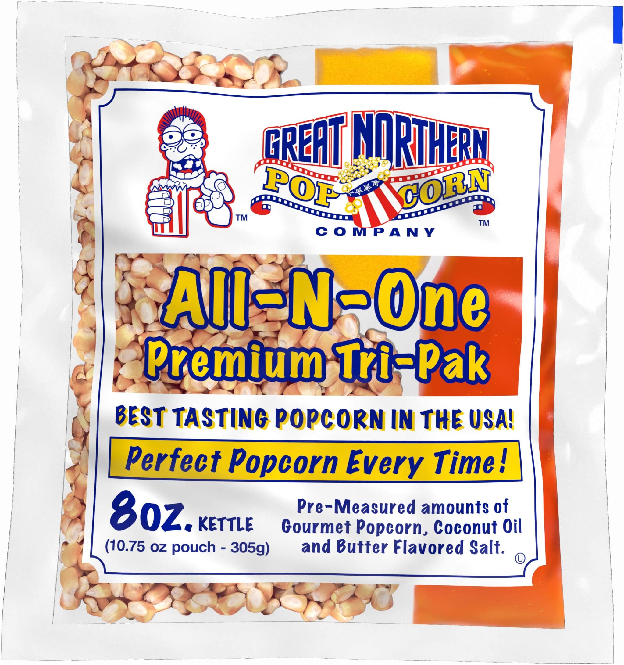 Amazon Com 8 Oz Popcorn Packs Pre Measured Movie Theater Style All In One Kernel Salt Oil Packets For Popcorn Machines By Great Northern Popcorn Popcorn Kernels Grocery Gourmet Food
