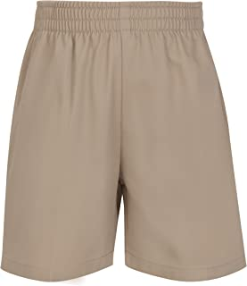 elastic waist khaki uniform shorts