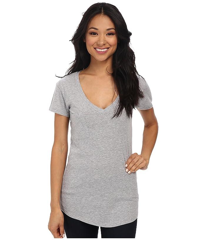 LAmade V-Pocket Tee - Tissue Jersey (Heather Grey) Women's Short Sleeve Pullover