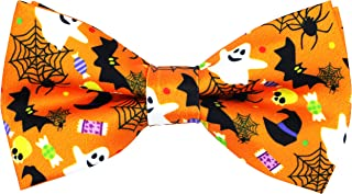 OCIA Holiday Halloween Christmas Pre-Tied Bow Tie Festival Pattern Bowtie for Mens & Boys