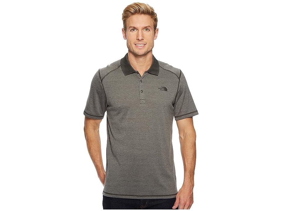 The North Face Short Sleeve Horizon Polo (Asphalt Grey Stripe) Men
