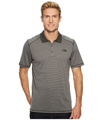 The North Face Short Sleeve Horizon Polo (Asphalt Grey Stripe) Men