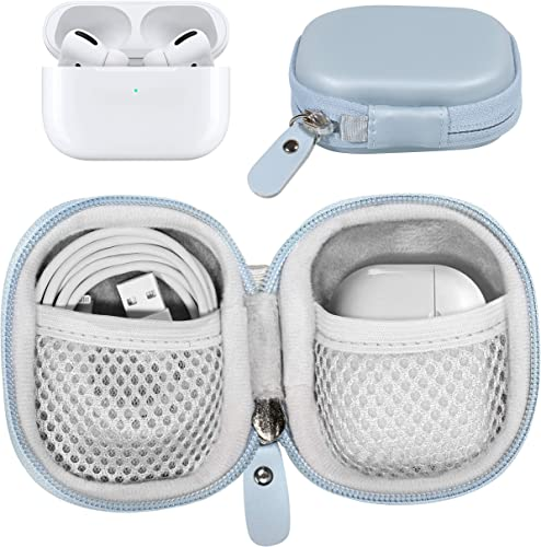 high quality GETGEAR Protective Case for Airpods outlet online sale Pro, Airpods 2, Airpods 1; Samsung Galaxy outlet online sale Buds Pro, Galaxy Buds 2, Galaxy Buds and Universal for Other True Wireless Earbuds, mesh Accessories Pocket (Blue) outlet sale