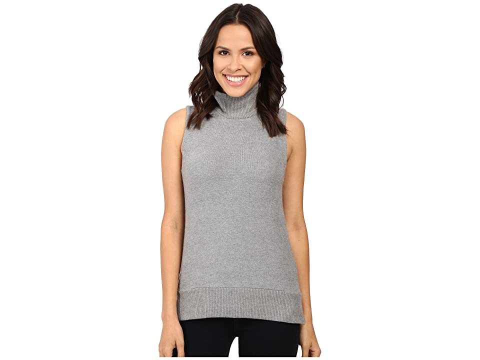 Three Dots High-Low Sleeveless Sweater (Granite) Women