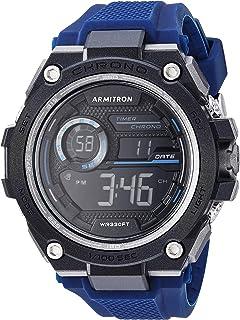 ساعة ارمترون رياضية للرجال رقمية كرونوغراف بسوار من السليكون
