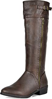 DREAM PAIRS Women's Koson Knee High Winter Riding Boots
