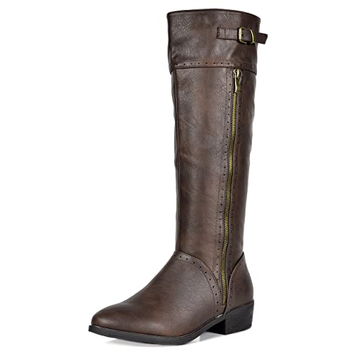 ff5e64074e3 DREAM PAIRS Women s Fashion Knee High Winter Riding Boots (Wide Calf)