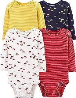 Carter's Baby 4 Pack Long Sleeve Bodysuit Set,...