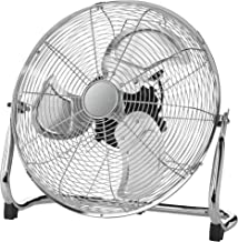 Clatronic VL 3730 WK ventilator, windmachine, grote diameter (45 cm), metalen chroom, rustige loop, extra grote metalen vl...