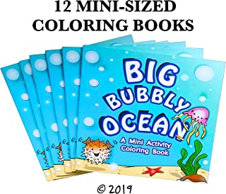 "(12 PACK) 4.75"" x 4.75"" Mini Ocean-Themed Party Favor Coloring Book (goodie bag coloring book, birthday mini coloring book, ocean animal coloring book)"