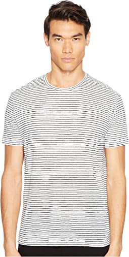 Striped Linen Relaxed Fit Crew