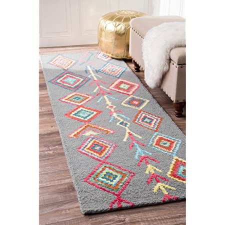Amazon Com Nuloom Belini Hand Tufted Wool Area Rug 4 X 6 Grey Furniture Decor