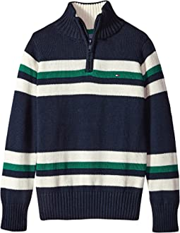 Tommy Hilfiger Kids - Leon 1/2 Zip Sweater (Big Kids)