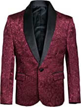 Boys Premium Paisley Patterned Shawl Lapel Tuxedos - Many Colors