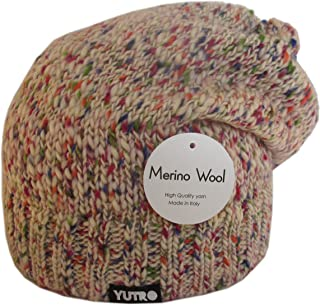YUTRO Fashion Women's Slouchy Fleece Lined 100% Merino Wool Knitted Winter Beanie Hat 4 COLORS