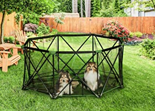Carlson Pet Products Eight Panel Pet Pen, Green