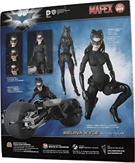 MAFEX #009 The Dark Knight Trilogy Selina Kyle Catwoman Action Figure Bundle with 1 Batman Movie Collector Card