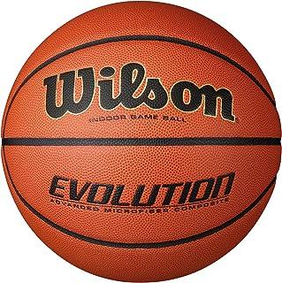 Wilson Pelota de Baloncesto Evolution Cuero sintético Interior y Exterior, para Adultos