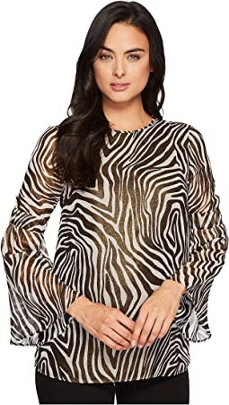 MICHAEL Michael Kors Optic Bell Sleeve Tunic