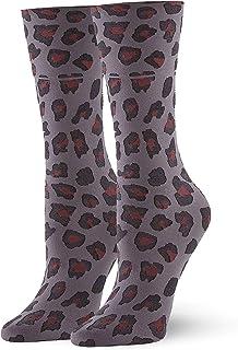 HUE womens U20823 Leopard Trouser Sock Dress and Trouser Socks