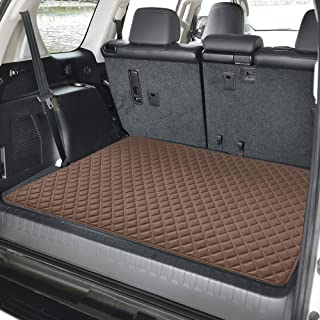 "FH Group F16501 Deluxe Heavy-Duty Faux Leather Multi-Purpose Cargo Liner, Diamond, 32"" : 40"" x 32"", Brown Color- Fit Most Car, Truck, SUV, or Van"