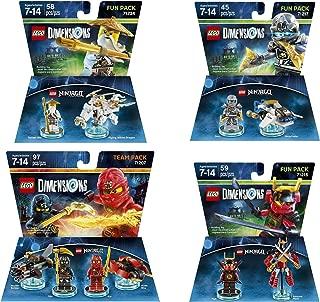 Ninjago Team Cole & Kai + Nya + Zane + Sensei Wu Fun Packs - Lego Dimensions (Non Machine Specific)