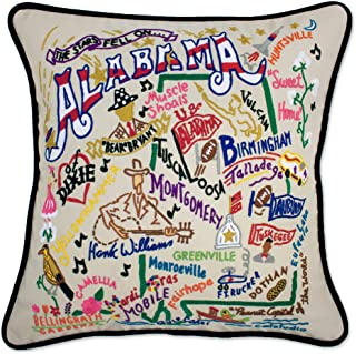Catstudio Alabama Embroidered Decorative Throw Pillow | Beautiful Award Winning Home Decor Artwork | Great for The Living, Family, Bed Rooms