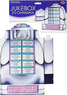 Beistle 54804 50's Jukebox decoración de mesa – 1 unidad, multicolor