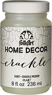 FolkArt 34867 Home Decor Chalk Furniture & Craft Paint in Assorted Colors, 8 ounce, Crackle