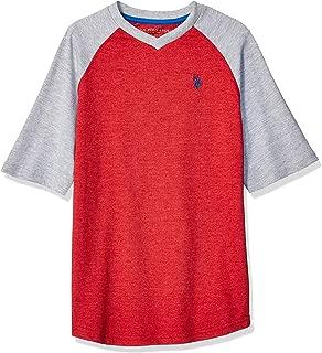 Boys' Raglan Short Sleeve V-Neck T-Shirt