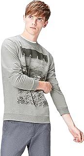 Amazon Brand - find. Men's Oslo Print Crew Neck Sweatshirt