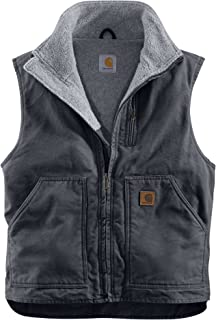 カーハート アウター ジャケット&ブルゾン Carhartt Men's Sandstone Mock-Neck Vest Gravel [並行輸入品]