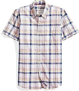Amazon Brand - Goodthreads Men's Slim-Fit Short-Sleeve Lightweight Madras Plaid Shirt