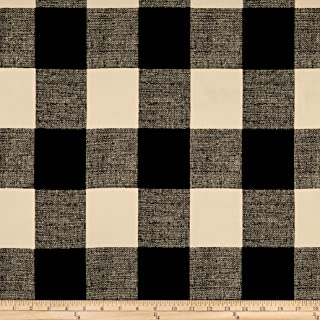 Premier Prints Anderson Canvas Fabric, Macon Black, Fabric By The Yard