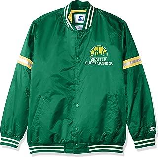 Starter Adult Men Legecy Retro Satin Jacket, Green, 5X
