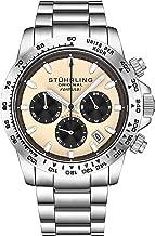 Stuhrling Original Mens Sport Chronograph Watch - Stainless Steel Brushed Matte Bracelet, 891 Formula