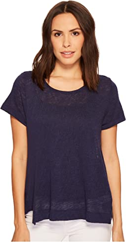 Nally & Millie - Short Sleeve Top with Panel Seams