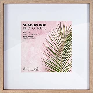 Cooper & Co. 50 x 50 cm Matt to 30 x 30 cm Shadow Box Wooden Photo Frame, Oak