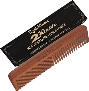 2Klawz Hair Comb for Men - Hair and Beard Comb with Wide and Fine Teeth Full Size 7