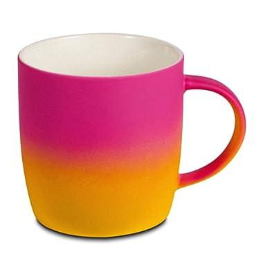 BEGONDIS Coffee Mug Ceramic Gradient Ombré Color Elegant Matte Tea Cup, Gift For Family and Friend 11.5oz