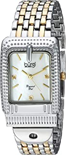 Burgi Women's White Dial Stainless Steel Band Watch - Bur171Ttg, Analog Display, Japanese Quartz Movement